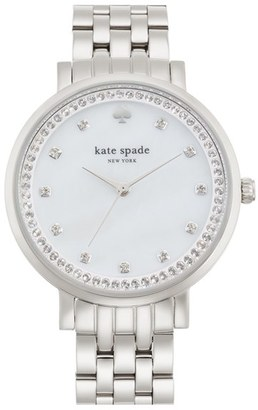 Women's Kate Spade New York 'Monterey' Crystal Dial Bracelet Watch, 38Mm $275 thestylecure.com