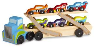 Melissa & Doug Chaput Race Car Carrier Set