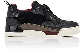 Christian Louboutin Men's Aurelien Flat Mixed-Material Sneakers
