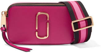 Marc Jacobs Snapshot Textured-leather Shoulder Bag - Fuchsia