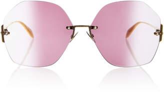 Alexander McQueen Sunglasses Jewel-Embellished Oversized Sunglasses