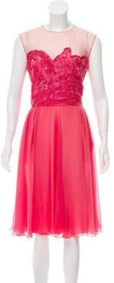Elie Saab Embellished Silk Dress