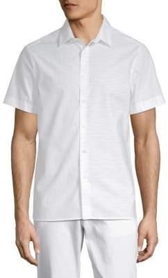 Perry Ellis Slub Space Dyed Cotton Button-Down Shirt