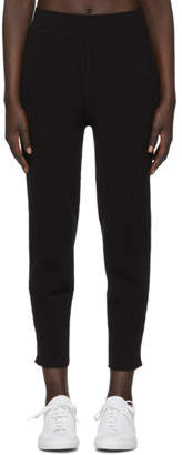 Alexander Wang Black Coverstitched Rib Long John Lounge Pants