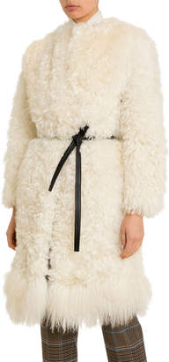 Givenchy Mongolian Fur Belted Coat