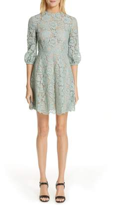 Valentino Lace A-Line Minidress