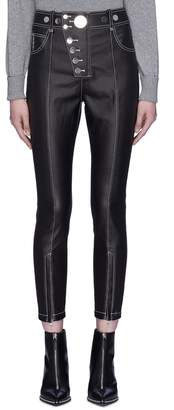 Alexander Wang Contrast topstitching cropped leggings