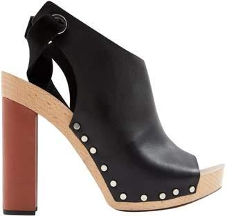 Proenza Schouler Black Leather Mules & Clogs