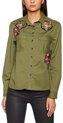 New Look Women's Tiger Badge Military Shirts