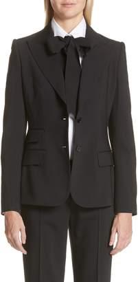 Dolce & Gabbana Two Button Stretch Wool Jacket