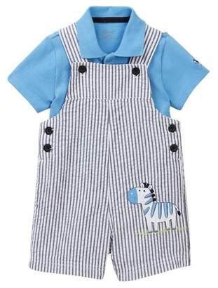 Little Me Zebra Shortall (Baby Boys 3-9M)