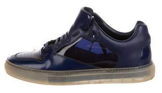 Balenciaga Patent Leather Low-Top Sneakers