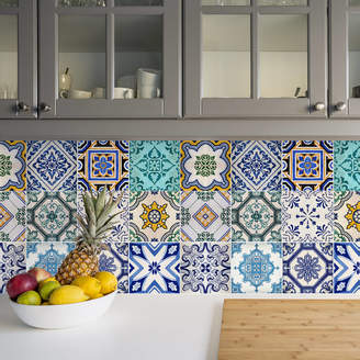 SirFace Graphics Traditional Spanish Tile Stickers Set Pack Of 24