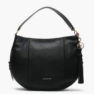 7455757626f8 Michael Kors Brooke Black Leather Large Hobo Bag