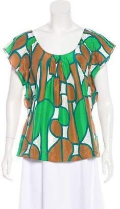 Diane von Furstenberg Alcamo Silk Printed Top
