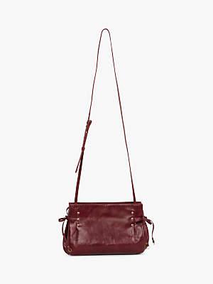 Gerard Darel Bi Tie Shoulder Bag, Wine