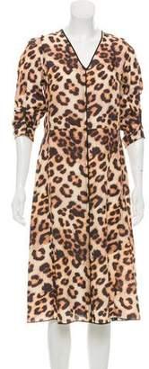 Marc Jacobs Leopard Print Midi Dress