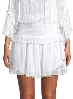 Ramy Brook Rosalie Smocked Mini Skirt