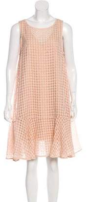 Tibi Checkered Sleeveless Dress