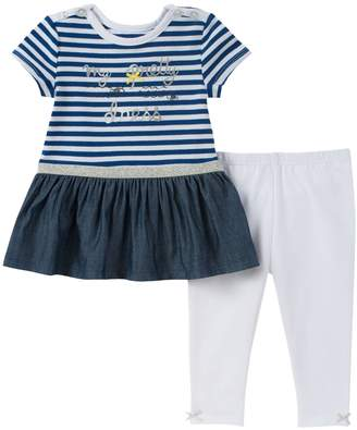 Absorba Stripes & Bow Tunic & Leggings