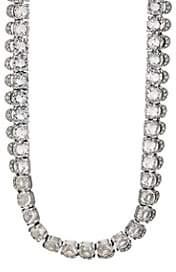 Loren Stazia Women's 1980s Diamanté Necklace - Silver
