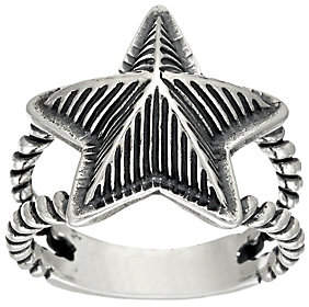 American West Sterling Choice of Textured StarRing