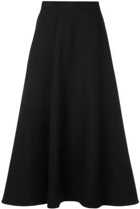 Enfold pleated midi skirt