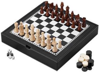 MAINSTREET CLASSIC Mainstreet Classics Chess Checkers Backgammon With Chessmen Storage