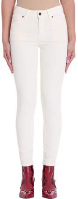 Mauro Grifoni Nora White Velvet Cotton Pants