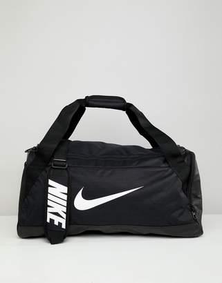 Nike Black Swoosh Logo Duffle Bag