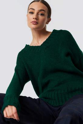 Trendyol V-Neck Knitted Pullover Emerald Green