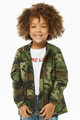 Forever 21 Girls Camo Print Utility Jacket (Kids)