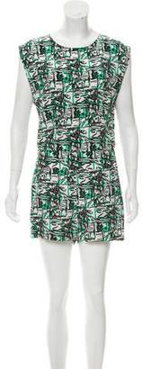 Pam & Gela Abstract Cutout Back Romper w/ Tags