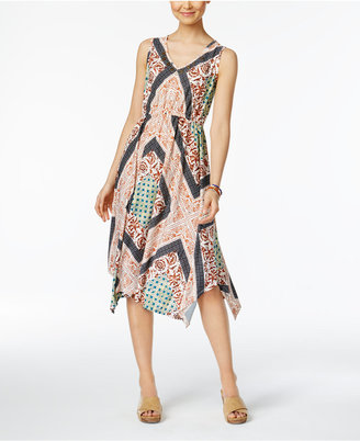Style & Co Printed Handkerchief-Hem Dress, Only at Macy's $69.50 thestylecure.com