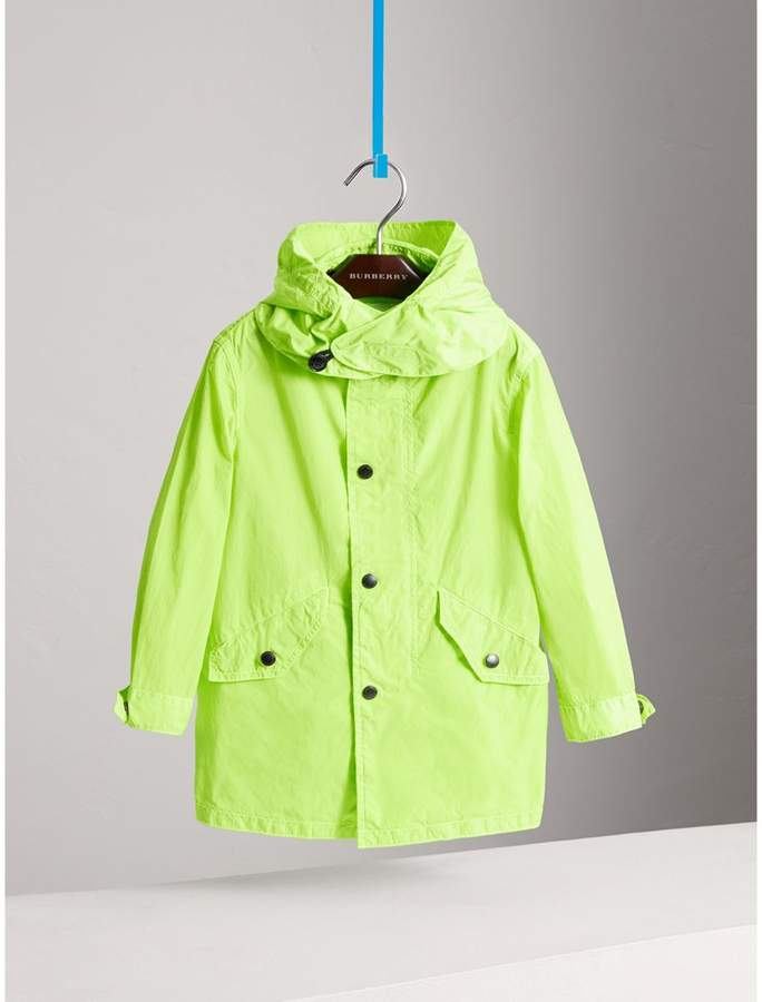 Detachable Hood Lightweight Parka Coat