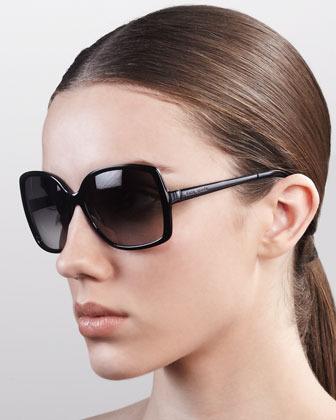 Kate Spade New York Darrys Oversize-Square Sunglasses, Brown/Gray