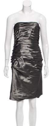 Ralph Lauren Black Label Ruched Cocktail Dress
