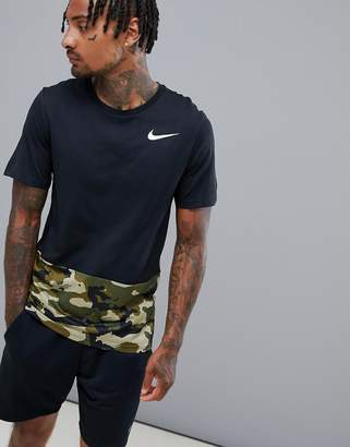 Nike Training Hyperdry T-Shirt In Black With Camo AQ1091-010
