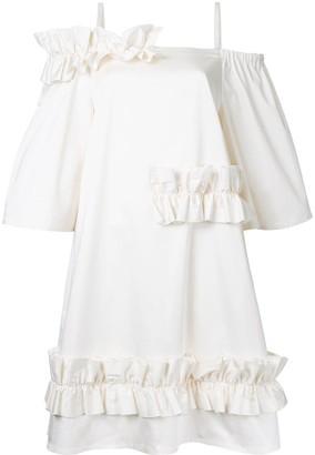 PASKAL clothes ruffled trim dress
