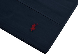 Ralph Lauren Home Polo Player Flat Sheet - Navy - Double