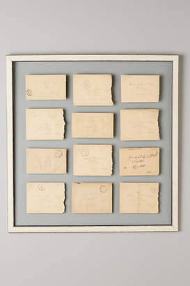 Anthropologie Love Notes Vintage Wall Art