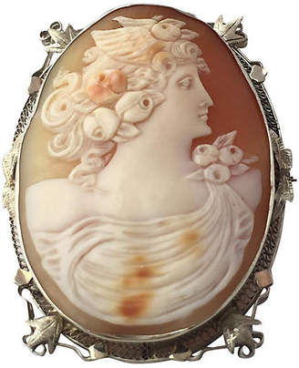 One Kings Lane Vintage Art Deco Goddess Cameo Brooch/Pendant - Owl's Roost Antiques