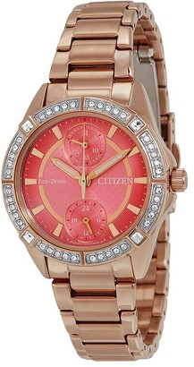 Citizen POV Eco-Drive Coral Dial Ladies Watch
