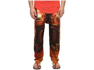 Vivienne Westwood Wallace Print Viscose Squiggle Trousers Men's Casual Pants