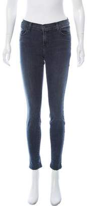 J Brand Zip Accented Mid-Rise Jeans