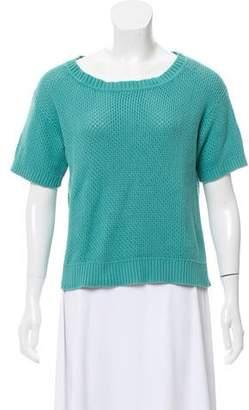White + Warren Short Sleeve Scoop Neck Sweater