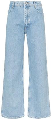 Eckhaus Latta cropped straight leg jeans
