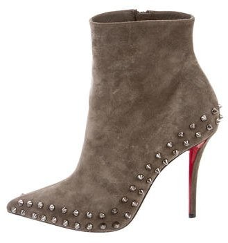Christian Louboutin  Christian Louboutin Willeta 100 Suede Booties