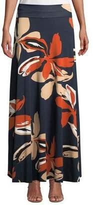 Rachel Pally Long Full Floral-Print Skirt, Plus Size