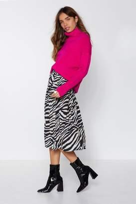 Nasty Gal Wild Thoughts Zebra Skirt